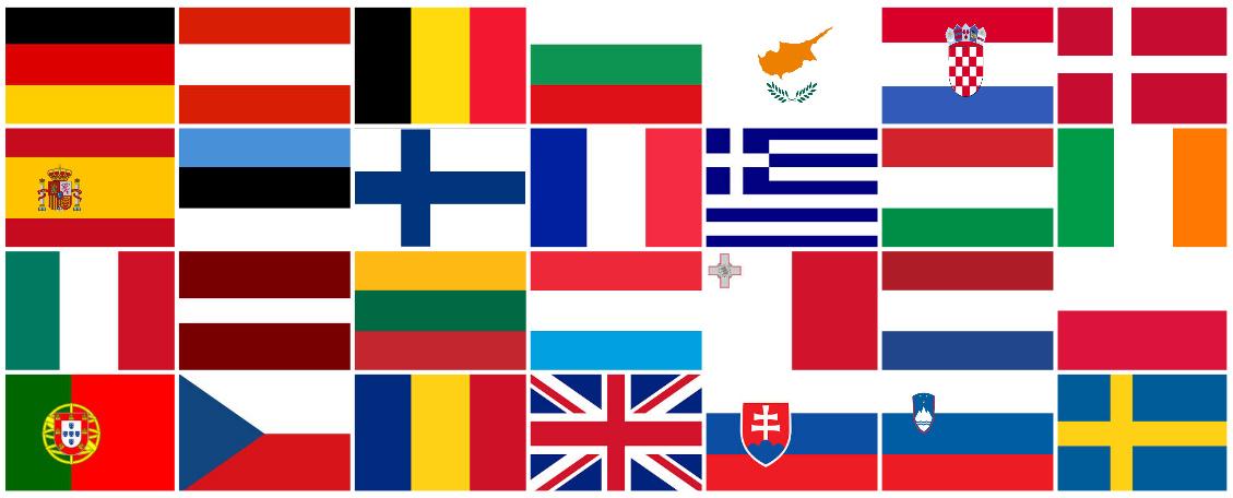 Préférence Europe-28-pays-28-drapeaux - Camping Vendée 5 étoiles | Camping Le  MW91