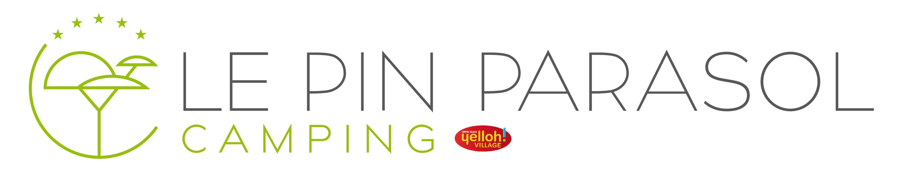 logo Pin Parasol camping 5 étoiles vendée
