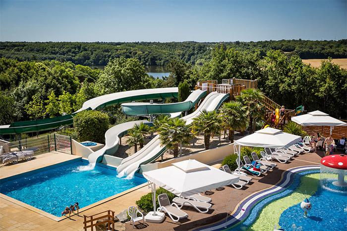 Espace aquatique du camping nature de luxe Vendée